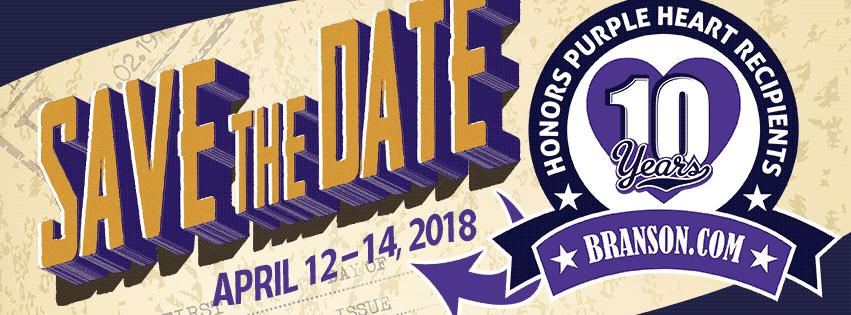 10th Annual Branson.Com Honors Purple Heart Recipients April 12-14, 2018